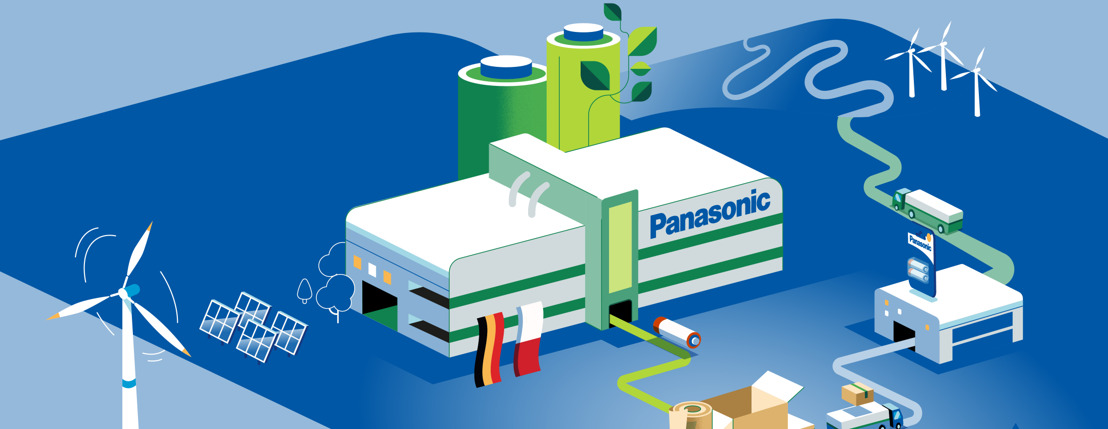 Panasonic Energy produces at local green factories, packs and delivers smartly and works ecologically