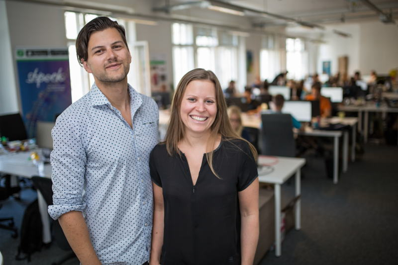 Shpock co-founders Armin Strbac and Katharina Klausberger