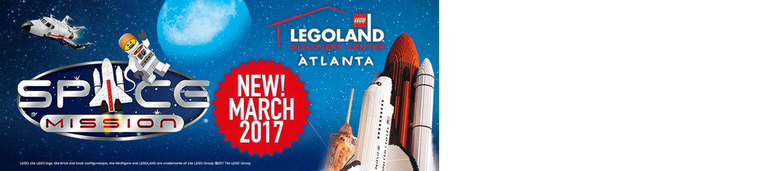 LEGOLAND® Discovery Center Atlanta launches new Space Mission exhibit with Adult Night on March 16