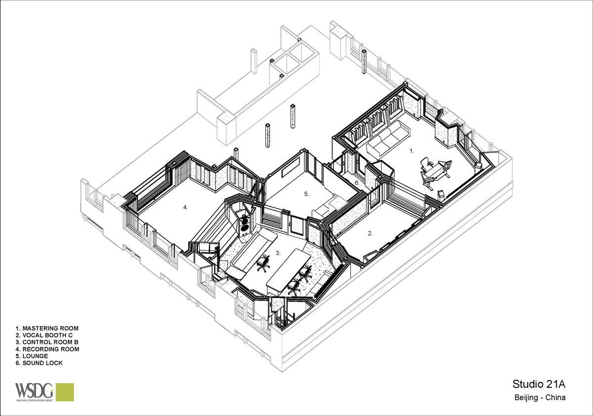 Studio 21A floor plan