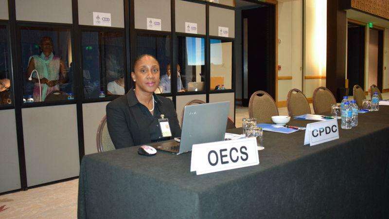 OECS Representative, Mrs. Norma Cherry-Fevrier, Programme Officer in the Social & Environmental Development Division.