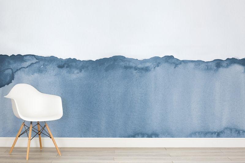 Blue Watercolour Wave
