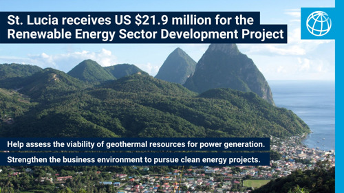 World Bank Approves US$21.9 Million to Fund Geothermal Energy Exploration in Saint Lucia