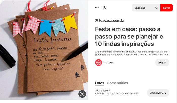 Mini relatório: Planeje a sua Festa Junina com estas ideias do Pinterest