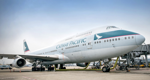 Cathay Pacific and its passengers pay tribute to the Boeing 747-400  Flights CX542 and CX543, operating a return service between Hong Kong and Haneda, bring an end to nearly four decades of stellar operations by the 'Queen of the Skies'
