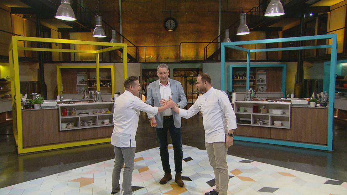 Wout Bru en Roger van Damme kruisen deeg en degens in Chef in je Oor