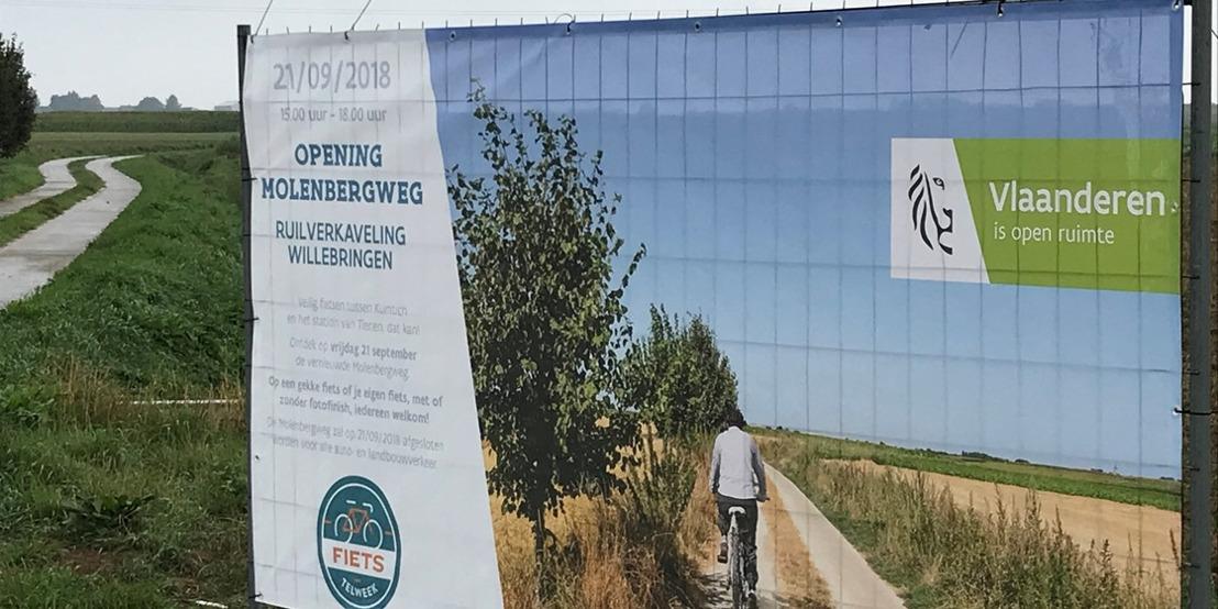 Veilig fietsen tussen Kumtich en het station van Tienen