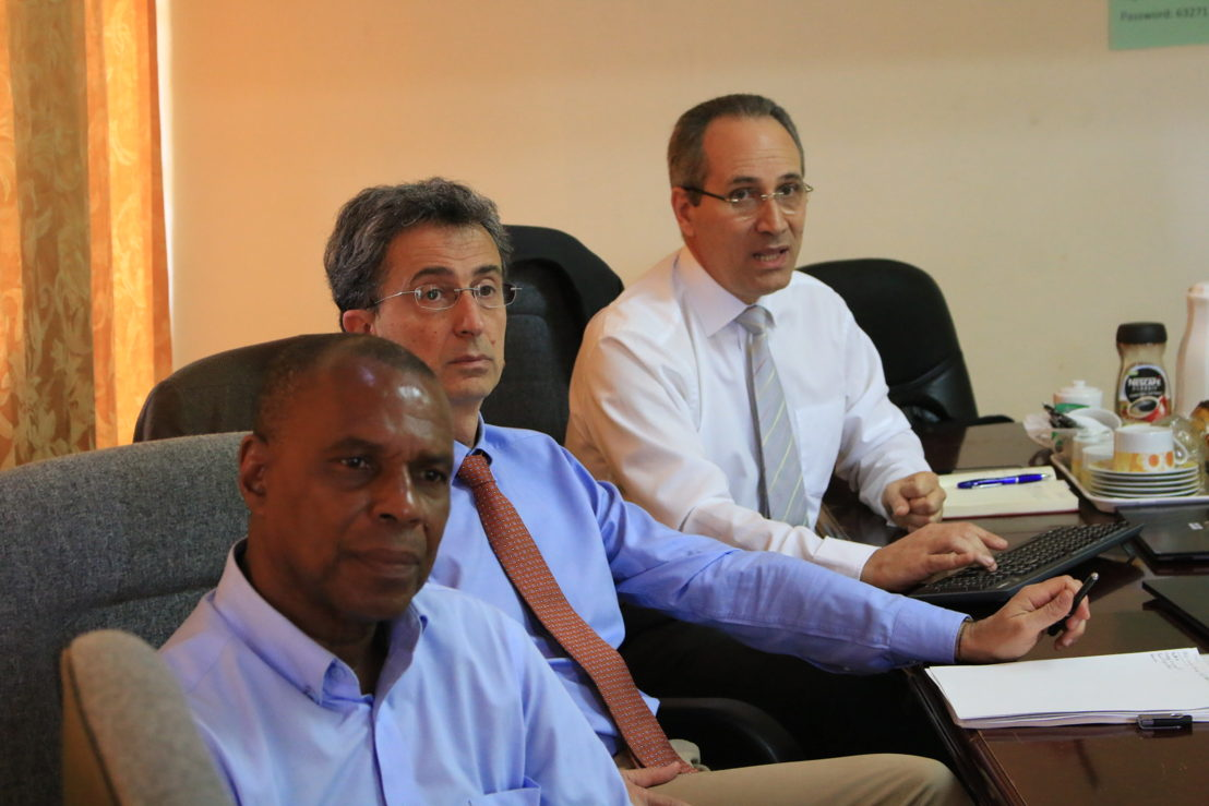 Meeting with representatives of IAEA and FAO in Saint Lucia.