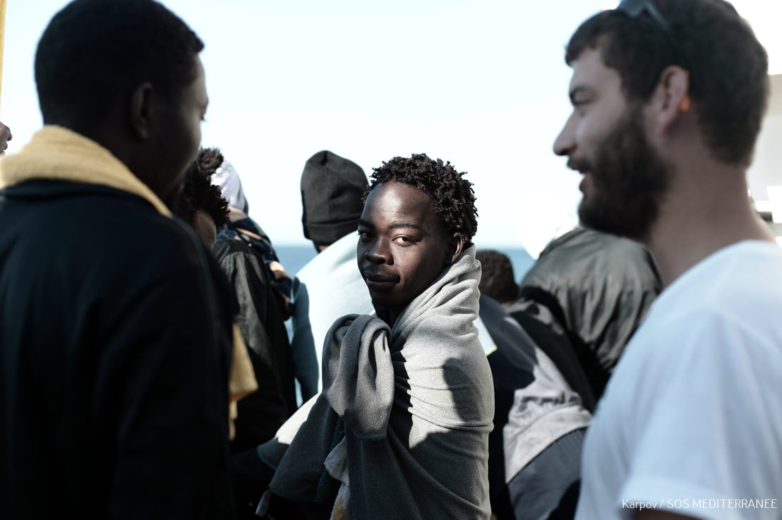 Aquarius is approaching the port of Valencia in Spain and is ready to disembark 106 rescued persons. Photographer: Kenny Karpov