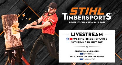 Le très convoité titre de champion STIHL TIMBERSPORTS® du Benelux 2021 est à nouveau mis en jeu