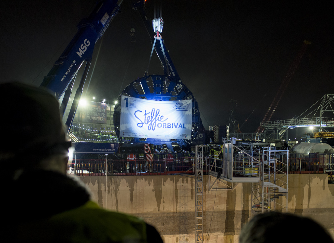 Launch ceremony for the first tunnel boring machine of the Grand Paris Express project
