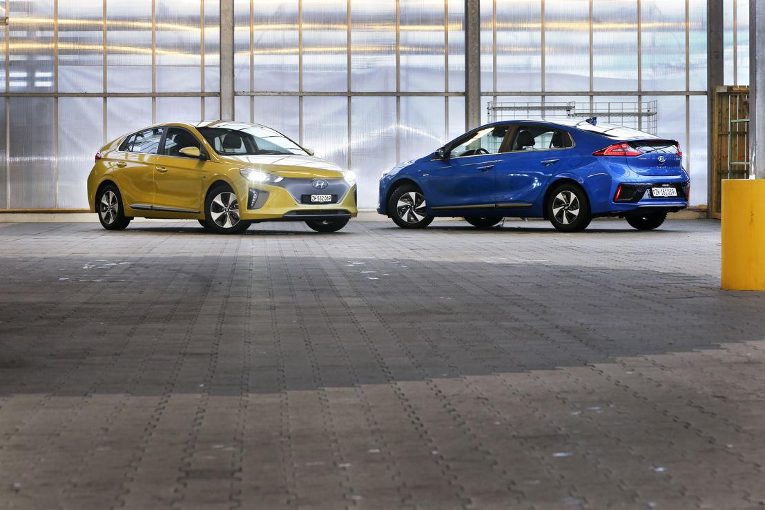 Hyundai IONIQ Eletric & Hybrid (v.l.n.r.)