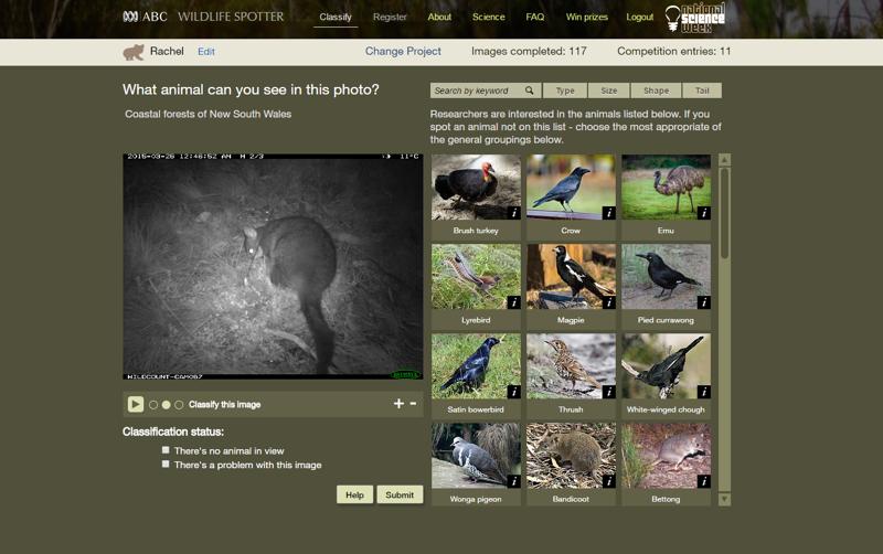 Wildlife Spotter screen shot