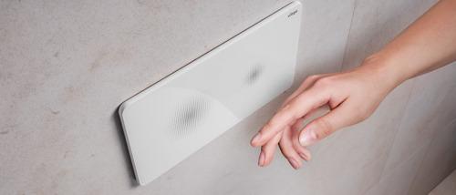 Des toilettes hygiéniques : la plaque de commande Viega réagit sans contact