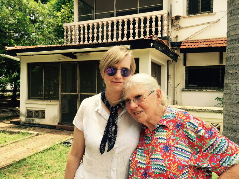 Australian Story <br/>Fiona Richardson and her mother outside their old house in Dar es Salaam