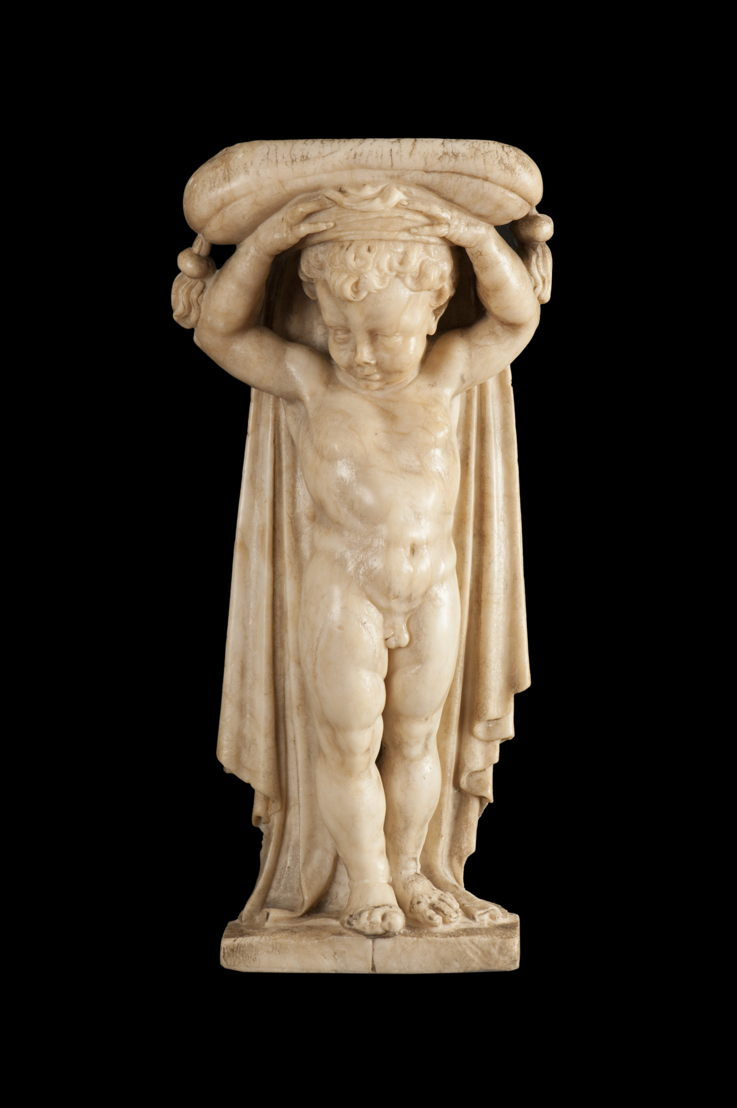 Front view of the newly acquired putto<br/>© Lopez de Aragon SL.