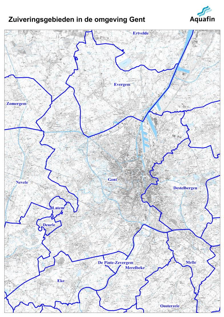 Waar wordt mijn afvalwater gezuiverd: zuiveringsgebiden in de omgeving van Gent