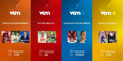 Van familiezender naar een familie van zenders: VTM breidt vanaf het najaar uit met VTM 2, VTM 3 en VTM 4