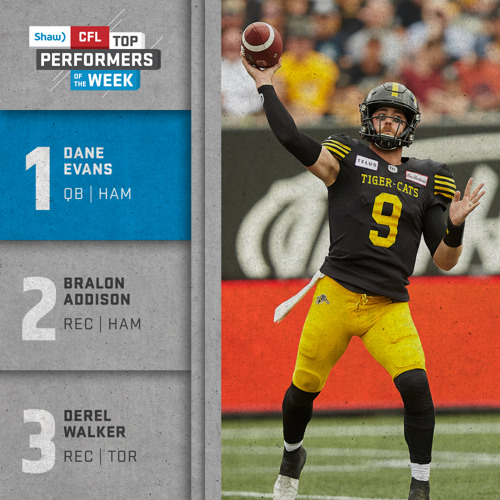 SHAW CFL TOP PERFORMERS – MARK'S LABOUR DAY WEEKEND