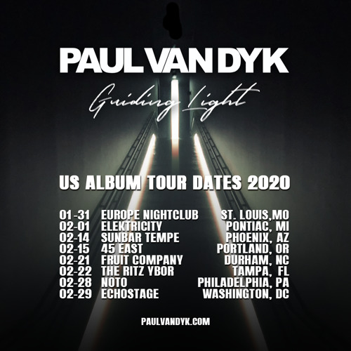 Paul van Dyk Announces World Tour to Celebrate New Album: Guiding Light