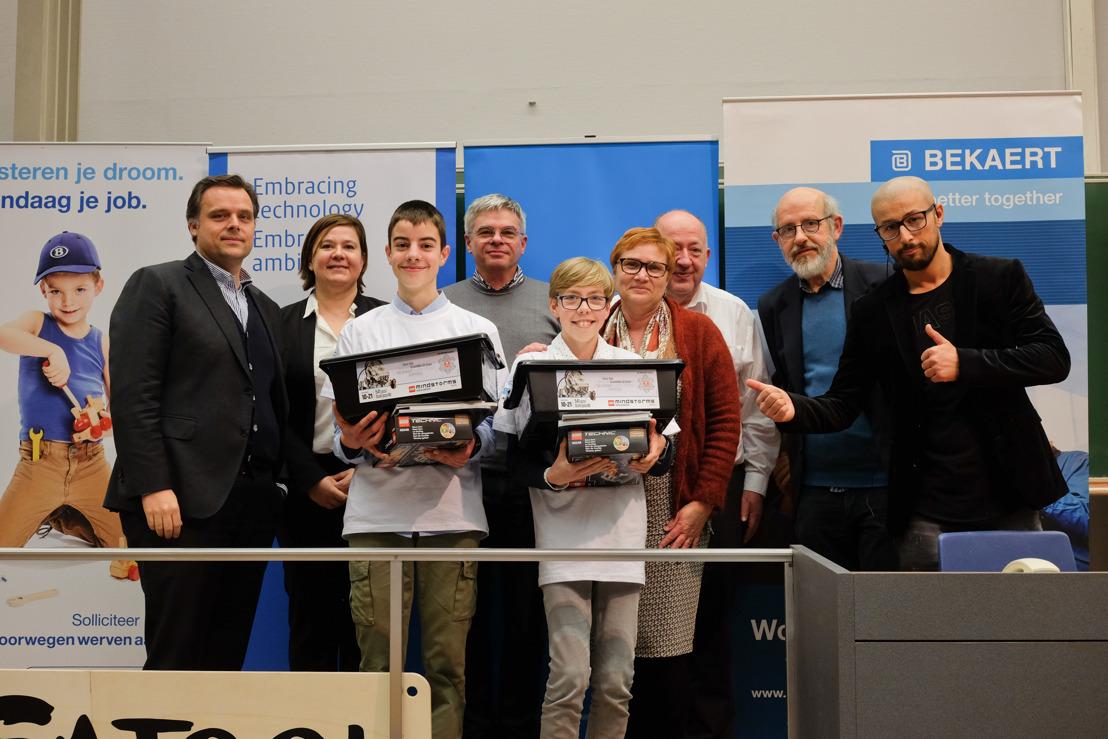 Ferre Smeets uit Mol en Sion Van De Velde uit Vorselaar zijn Vlaanderens grootste STEM-talenten