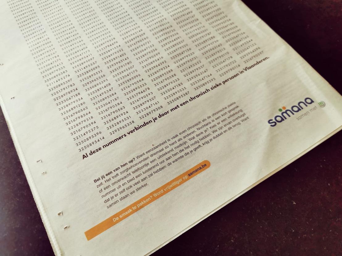 Bonka Circus en Samana publiceren 301 telefoonnummers die je in contact brengen met chronisch zieke mensen.