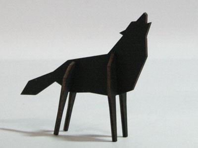 Atelier Pierre Nordic puzzel Wolf Large Black €33,75