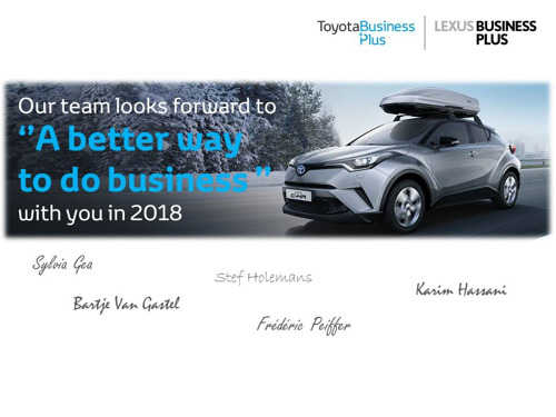 Best Wishes from Toyota Belgium Fleet