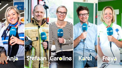 Radiozender Joe wordt Anja, Stefaan, Caroline, Karel en Freya
