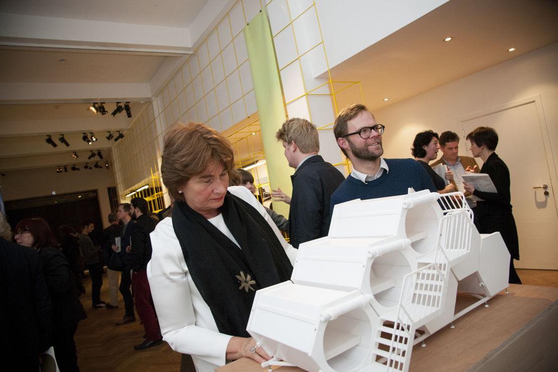 B-AND-BEE maquette in de tentoonstelling Henry van de Velde Awards & Labels 15. Foto: Michael De Lausnay