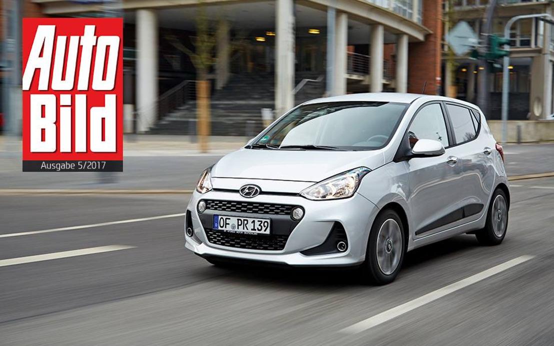 New Hyundai i10 und New Generation Hyundai i30 gewinnen Auto Bild-Vergleichstest