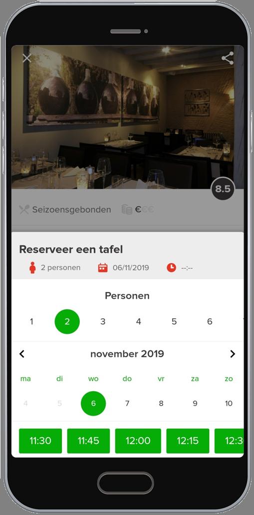 Belg reserveert massaal een tafeltje in restaurants