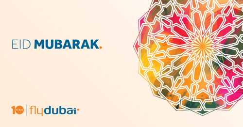 flydubai wishes you Eid Mubarak
