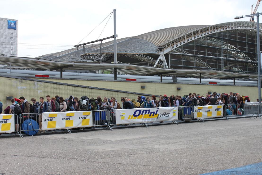 Tegen 13.00 u waren er al heel wat jongeren naar Leuven afgezakt