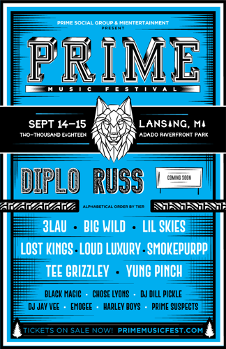 Prime Social Group Announces Lineups for their Prime Music Festival in Urbana & East Lansing