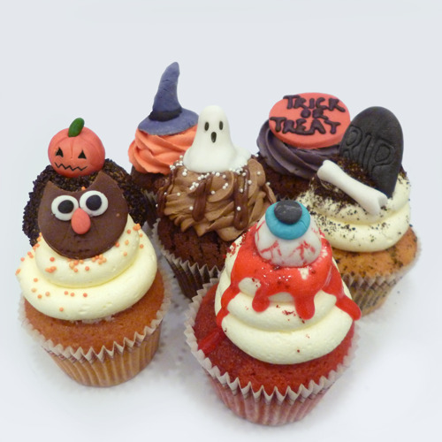 """""""Trick Us to Treat U"""" at Sweetheart Cupcakes, Covent Garden's new arrival."""
