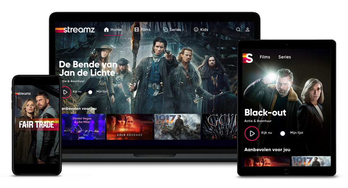 Streamz, DPG Media's and Telenet's new streaming platform, to launch on Monday 14 September with titles of DPG Media, SBS and VRT