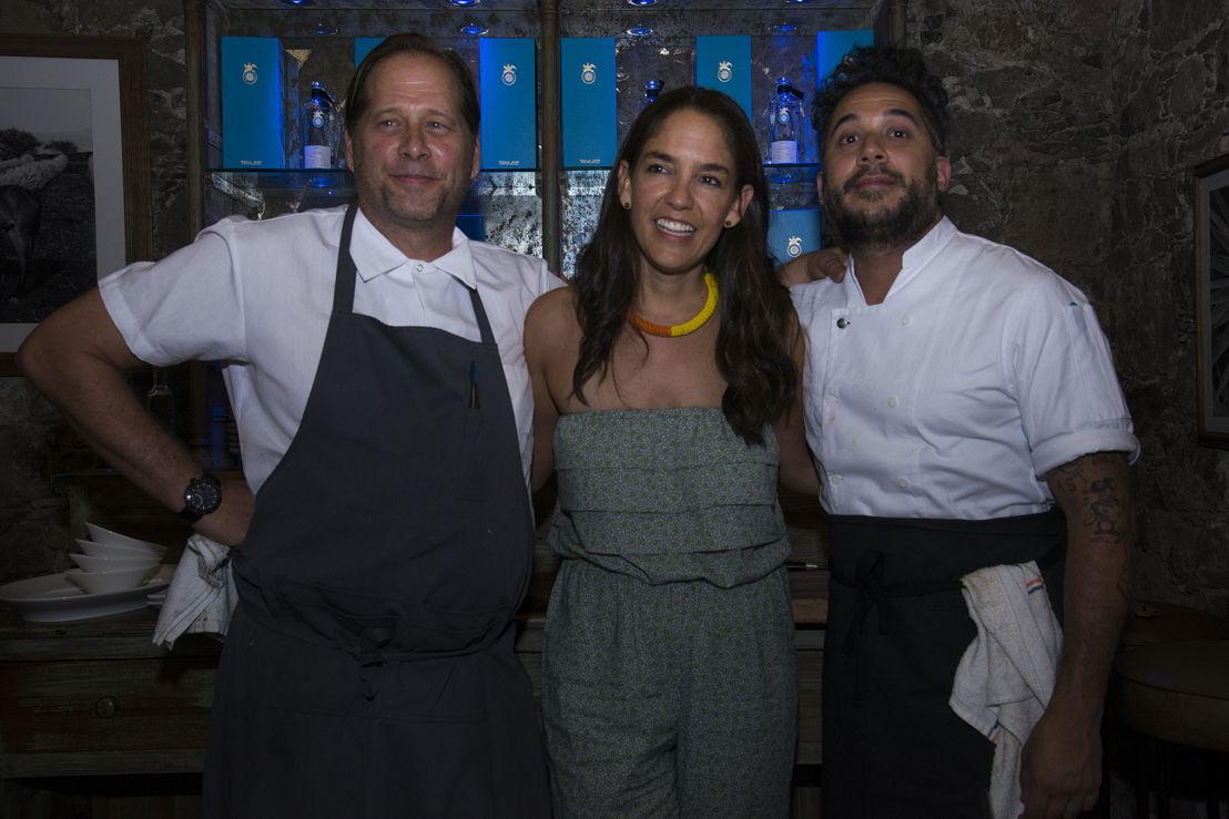 David Kinch, Bertha González y Carlo Mirarchi