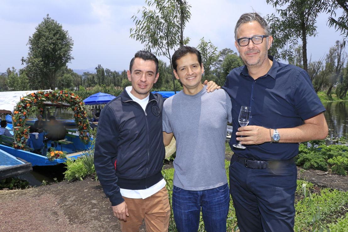 Edgar Nuñez, Jorge Vallejo y Guillermo González Beristain