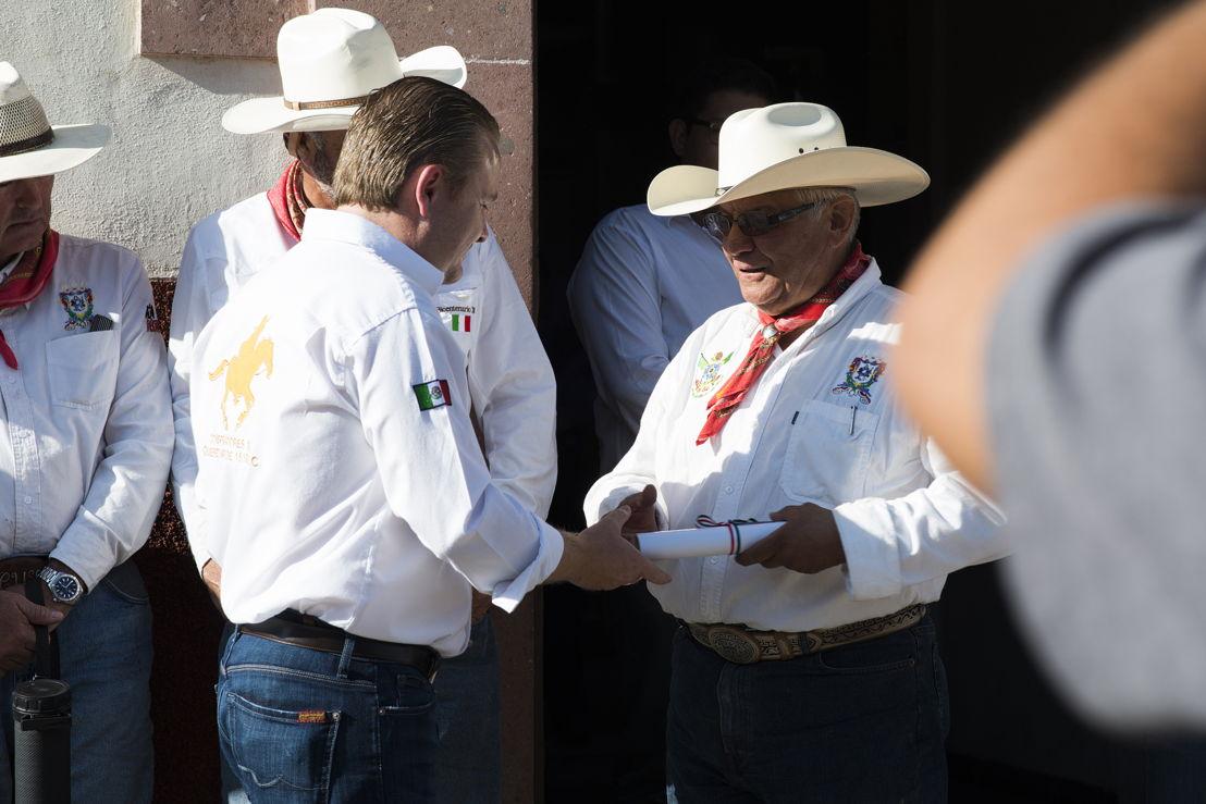 Ricardo Villareal en la cabalgata histórica de la Conspiración Ignacio Pérez