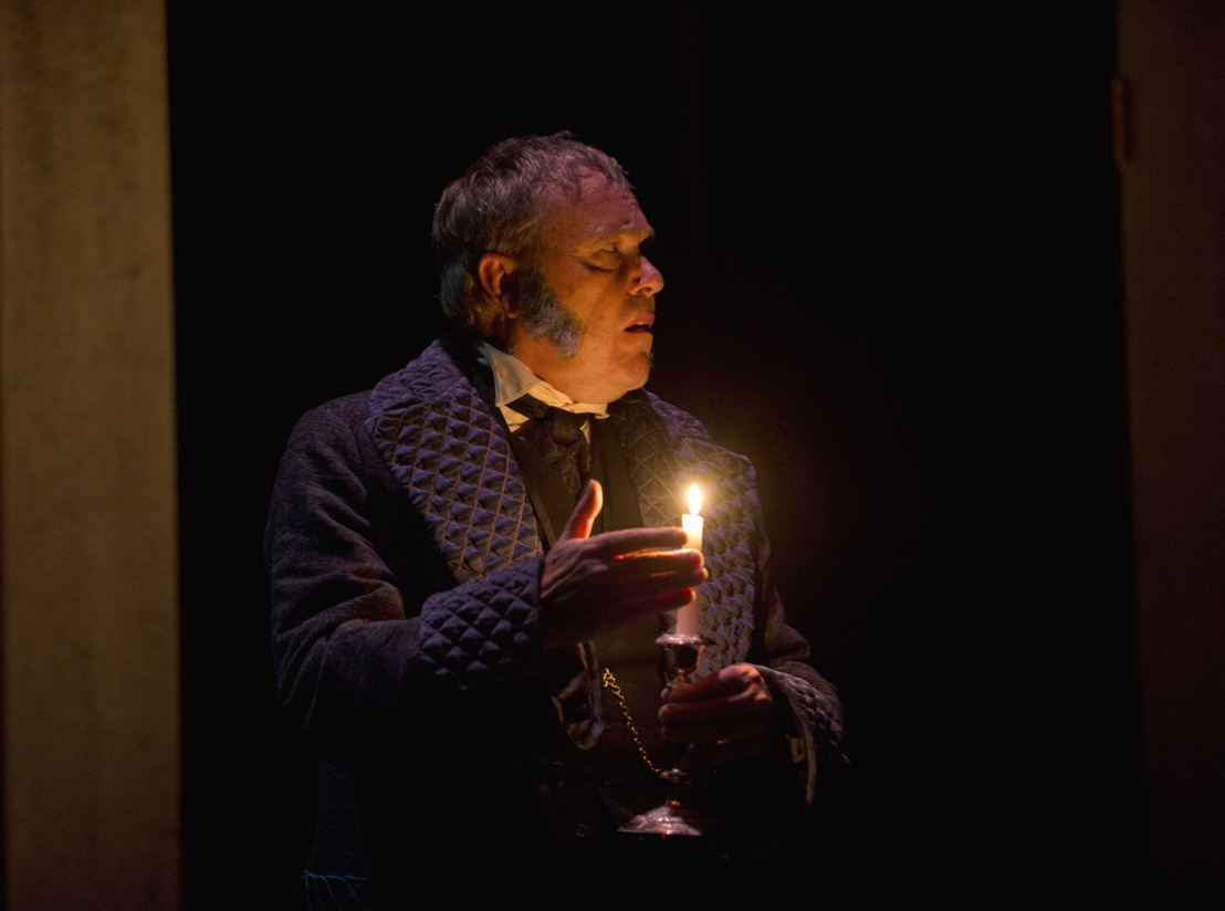 Tom McBeath as Ebenezer Scrooge in A Christmas Carol / Photo by David Cooper
