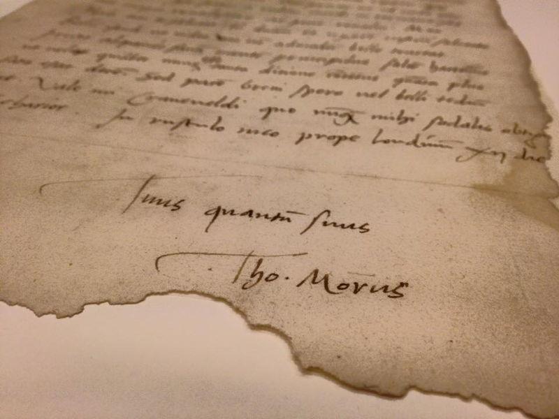 Utopia & More © Brief van More aan Cranevelt, 1521. Universiteitsbibliotheek KU Leuven.