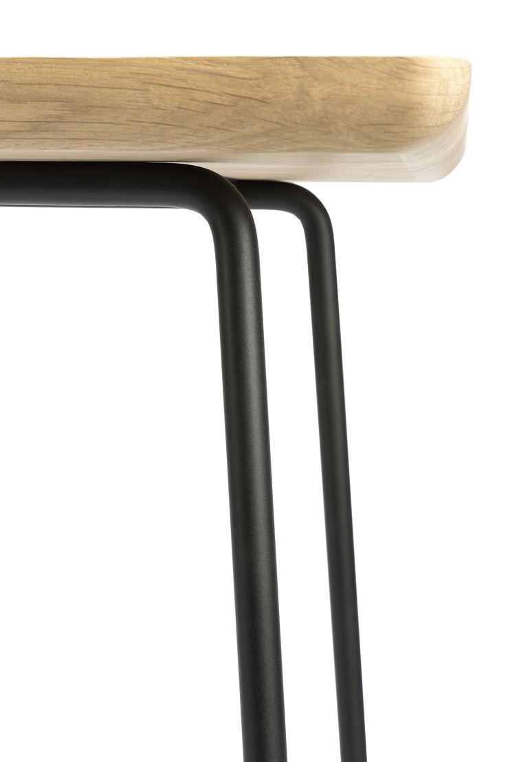 Ethnicraft Oak Disc side table_detail