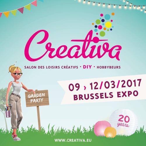 Creativa Brussels, de grootste beurs voor creatieve vrijetijdsbesteding, viert haar 20e verjaardag. Vier je mee?