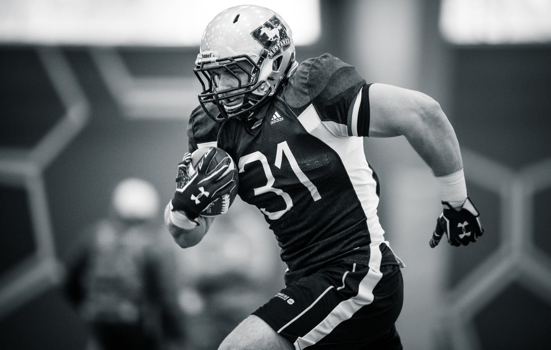 No. 18 RB David Mackie, Western (Photo Credit: Johany Jutras/CFL)