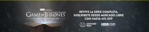 Mercado Libre cambia las cajas de sus envíos para celebrar el décimo aniversario de Game of Thrones junto a HBO