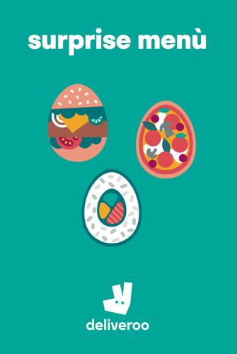 Pasqua è tempo di sorprese con Deliveroo: arrivano i Surprise Menù