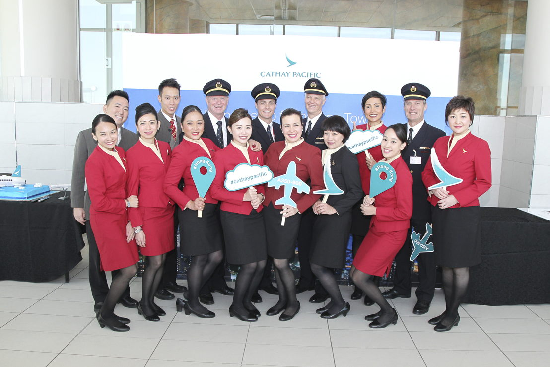 Operating crew of the inaugural flight from Cape Town to Hong Kong