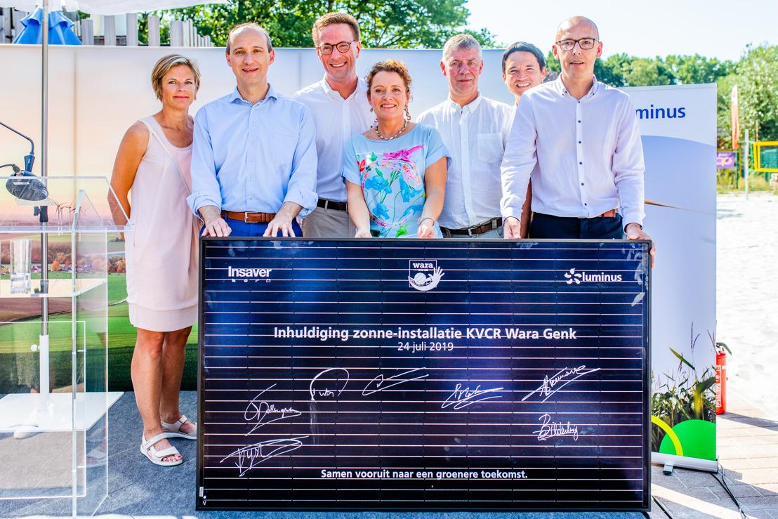 Groene energie voor volleybalclub KVCR Wara Genk