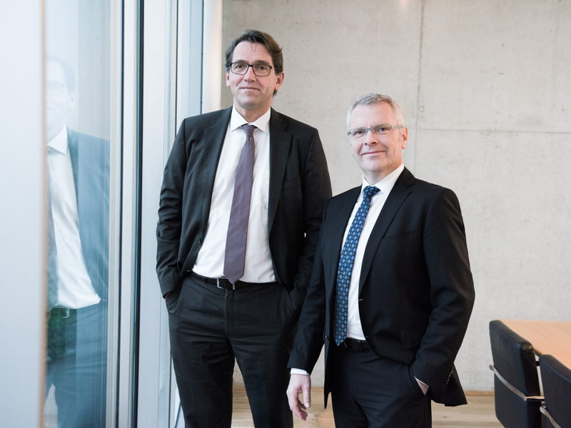 The new CEO Bernd Krüper (on the right) together with CFO Thomas Lehner are the management at Hatz